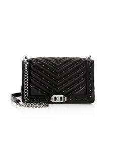 Rebecca Minkoff Micro Studs Love Leather Crossbody Bag