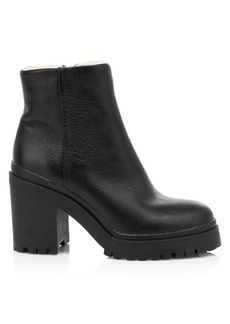 Rebecca Minkoff Milana Fur-Lined Leather Combat Boots