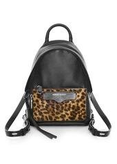 Rebecca Minkoff Mini Emma Leopard-Print Calf Hair Leather Backpack