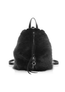 Rebecca Minkoff Mini Julian Convertible Faux Fur Backpack