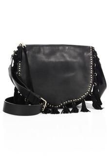Rebecca Minkoff Multi-Tassel Studded Leather Saddle Bag