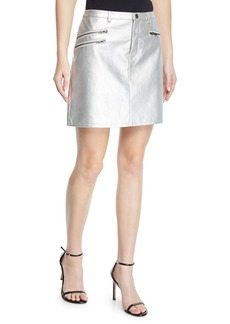 Rebecca Minkoff Myrah Metallic Short Skirt