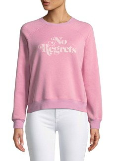 Rebecca Minkoff No Regrets Graphic Crewneck Sweatshirt