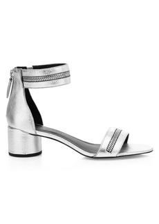 Rebecca Minkoff Ortenne Zipper Leather Sandals