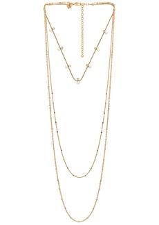Rebecca Minkoff Pearl and Stone Necklace