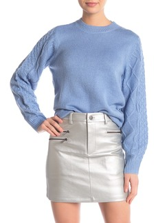 Rebecca Minkoff Penny Cable Knit Contrast Sweater
