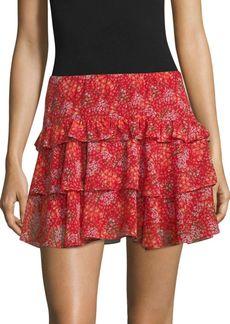 Rebecca Minkoff Phoebe Floral Ruffle Skirt
