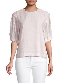 Rebecca Minkoff Pleated-Sleeve Top