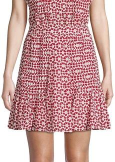 Rebecca Minkoff Printed Pleated Skirt