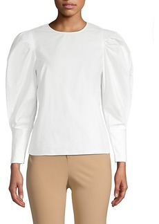 Rebecca Minkoff Puff-Sleeve Cotton Blouse
