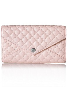 Rebecca Minkoff QUILTED WALLET ON A CHAIN PALE PINK