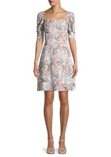 Rebecca Minkoff Randy Floral Smocked A-Line Dress