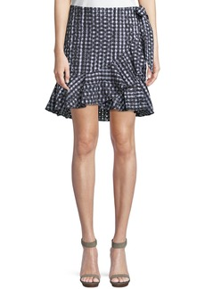 Rebecca Minkoff Alice Faux-Wrap Mini Skirt