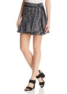 Rebecca Minkoff Alice Gingham Eyelet Wrap Skirt