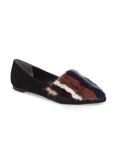 Rebecca Minkoff Amelie Genuine Mink Fur Flat (Women)