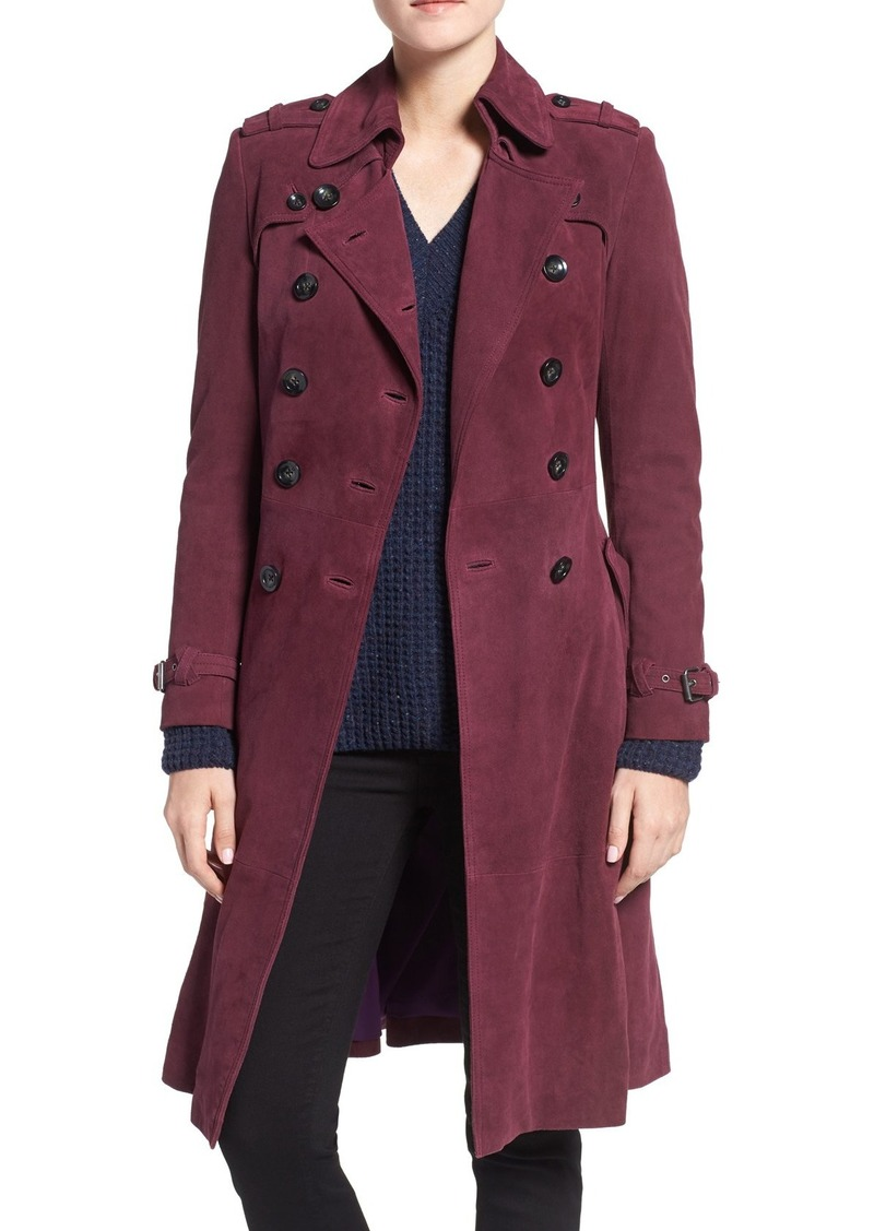 Rebecca Minkoff 'Amis' Double Breasted Suede Trench Coat