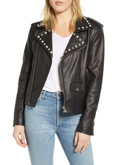 Rebecca Minkoff Andrea Leather Moto Jacket