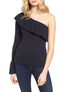Rebecca Minkoff Ava One Shoulder Cotton & Cashmere Sweater