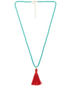 Rebecca Minkoff Bali Beaded Tassel Necklace