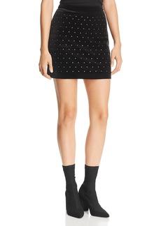 Rebecca Minkoff Betsy Studded Velvet Mini Skirt