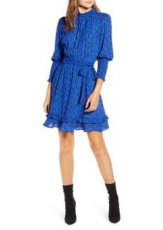 Rebecca Minkoff Bianca Dash Pattern Ruffle Hem Dress