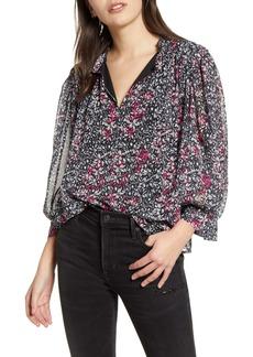 Rebecca Minkoff Billie Floral Print Chiffon Top
