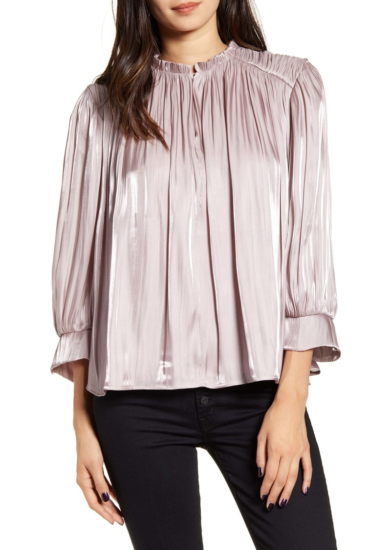 Rebecca Minkoff Billie Rumpled Satin Top