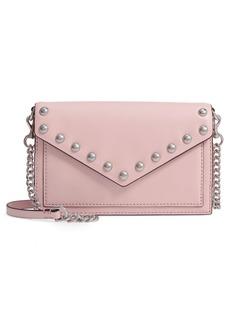 Rebecca Minkoff Blythe Studded Leather Crossbody Wallet