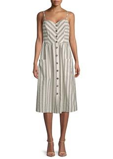 Rebecca Minkoff Bobbi Striped Midi Dress
