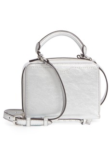 Rebecca Minkoff Box Metallic Leather Crossbody Bag