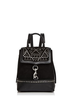 Rebecca Minkoff Bree Studded Suede & Leather Convertible Backpack