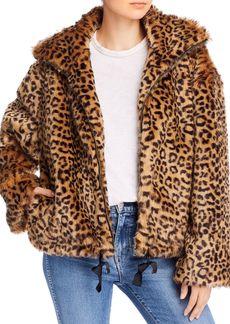 Rebecca Minkoff Brigit Faux-Fur Leopard Print Jacket