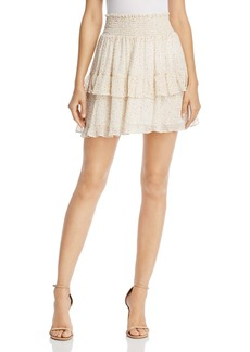Rebecca Minkoff Canyon Tiered Ruffled Floral-Print Skirt