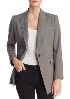 Rebecca Minkoff Celia Single-Button Houndstooth Blazer