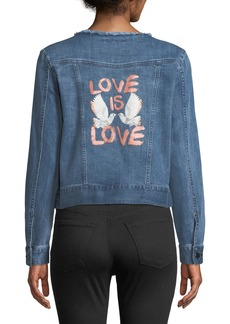 Rebecca Minkoff Charlie Love Is Love Denim Jacket