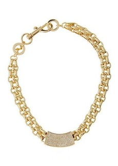 Rebecca Minkoff Chunky Crystal ID Collar Necklace