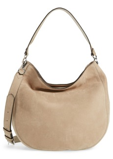 Rebecca Minkoff Convertible Nubuck Hobo with Embroidered Strap (Nordstrom Exclusive)