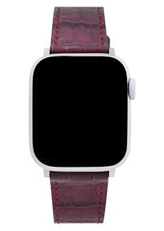 Rebecca Minkoff Croc Embossed Leather Apple Watch® Strap