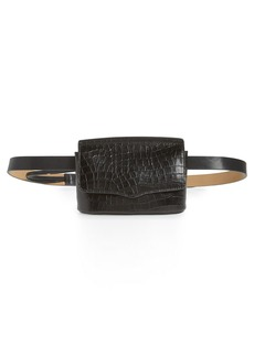 Rebecca Minkoff Croc Embossed Leather Belt Bag