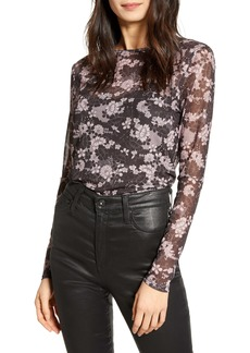 Rebecca Minkoff Cyder Long Sleeve Sheer Top