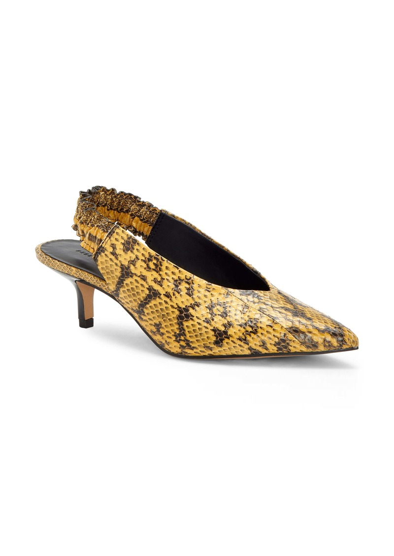 Rebecca Minkoff Damona Too Genuine Snakeskin Pointed Toe Pump (Women)