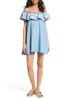 Rebecca Minkoff Dev Off the Shoulder Minidress