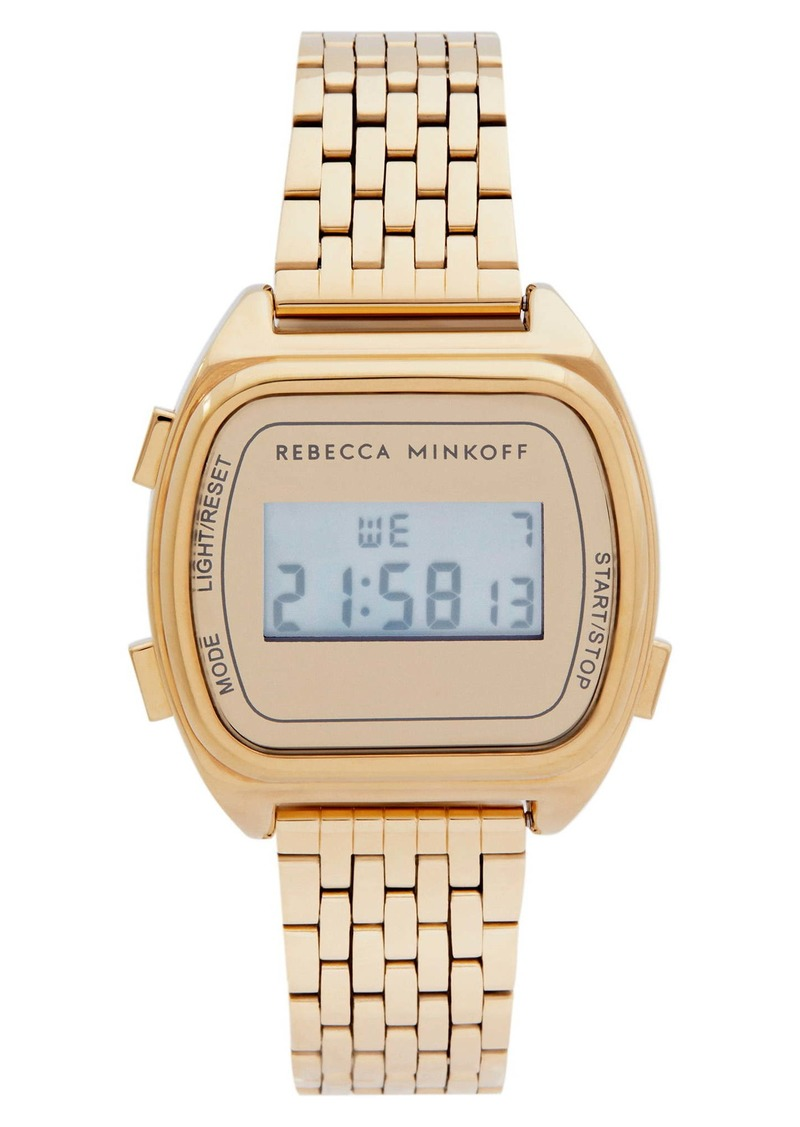 Rebecca Minkoff Digital Bracelet Watch, 34mm