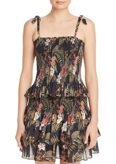 Rebecca Minkoff Dolly Smocked Floral-Print Top
