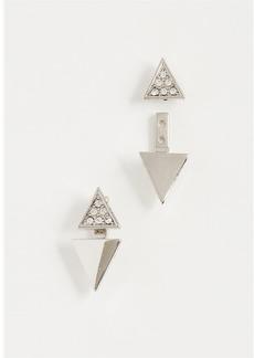 Rebecca Minkoff Double Triangle Earrings