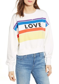 Rebecca Minkoff Ebony Love Stripe Graphic Sweatshirt