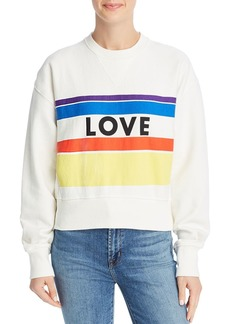 Rebecca Minkoff Ebony Love Stripe Sweatshirt