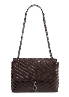 Rebecca Minkoff Edie Snake Embossed Leather Shoulder Bag