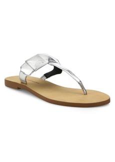 Rebecca Minkoff Eloise Metallic Leather Thong Sandals