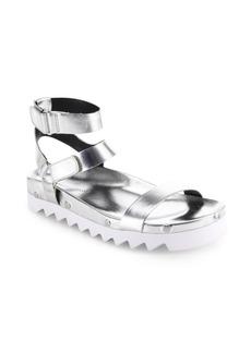 Rebecca Minkoff Elora Metallic Leather Ankle Strap Sandals